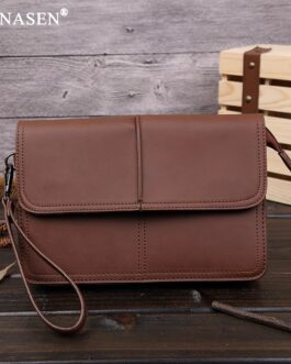 Leinasen Brown Clutch
